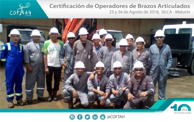 Certificación de Operadores de Brazos Articulados (SILCA) Maturín