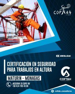 Certificacion de seguridad para trabajos de altura