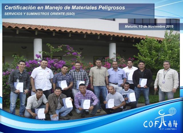 Certificación en Manejo de Materiales Peligrosos (SSO) Maturín