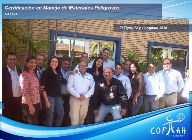 Certificación en Manejo de Materiales Peligrosos (NALCO) El Tigre