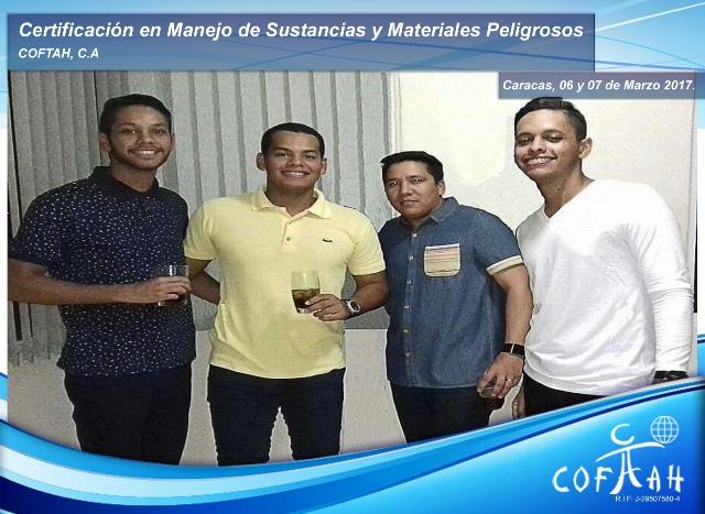 Certificación en Manejo de Sustancias y Materiales Peligrosos (COFTAH) Caracas