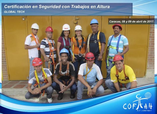 Certificación en Seguridad con Trabajos en Altura (GLOBAL TECH) Caracas