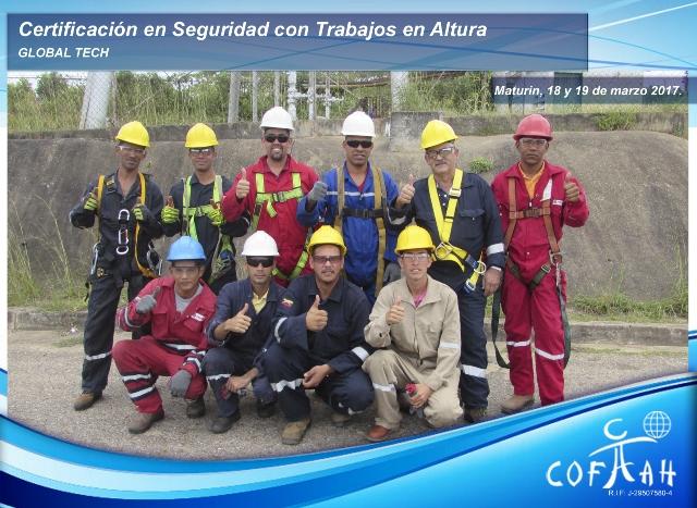 Certificación en Seguridad con Trabajos en Altura (GLOBAL TECH) Maturín