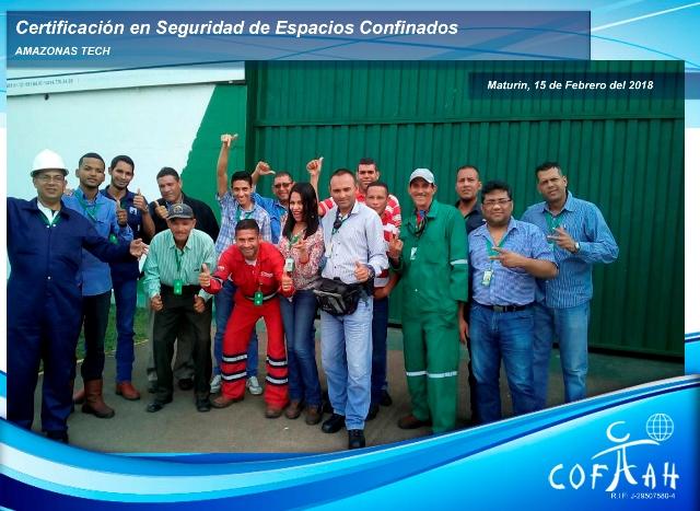 Certificación en Seguridad de Espacios Confinados (AMAZONAS TECH) Maturín