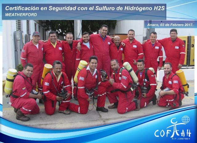 Certificación en Seguridad con el Sulfuro de Hidrógeno (WEATHERFORD) Anaco