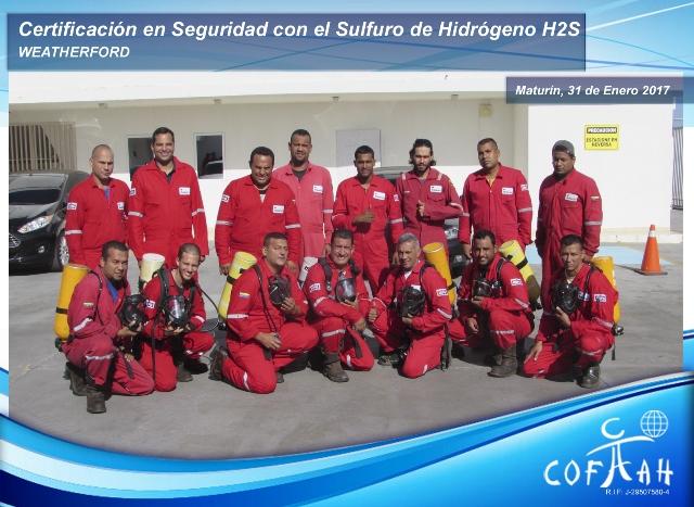 Certificación en Seguridad con el Sulfuro de Hidrógeno (WEATHERFORD) Maturin