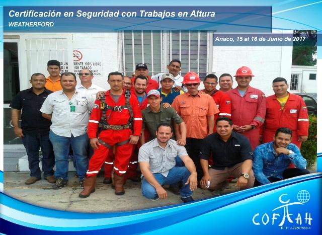 Certificación en Seguridad con Trabajos en Altura (WEATHERFORD) Anaco