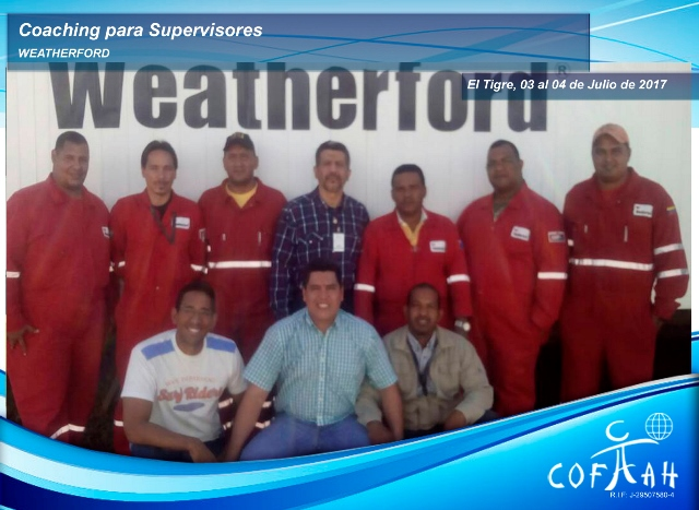 Coaching para Supervisores (WEATHERFORD) El Tigre