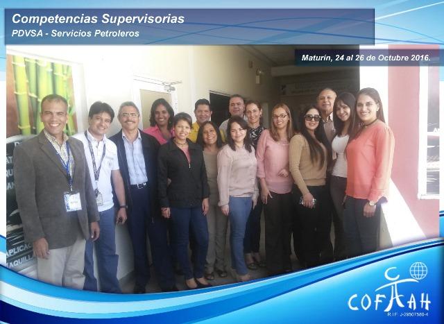 Competencias Supervisoras (PDVSA Servicios Petroleros) Maturín
