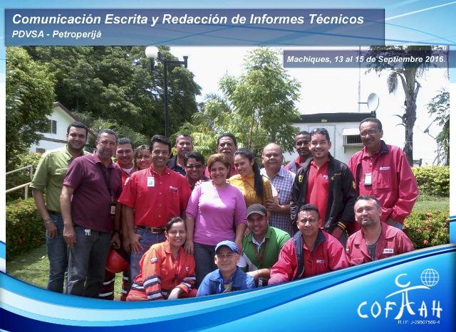 Comunicación Escrita y Redacción de Informes Técnicos (PDVSA Petroperijá) Machiques