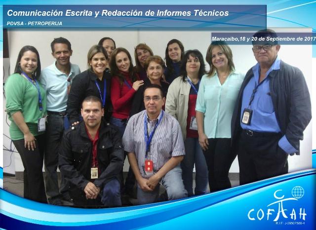 Comunicación Escrita y Redacción de Informes Técnicos (PDVSA Petroperija) Maracaibo