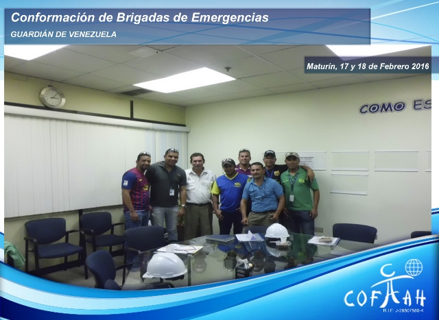 Conformación de Brigadas de Emergencias (GUARDIAN de Venezuela) Maturín