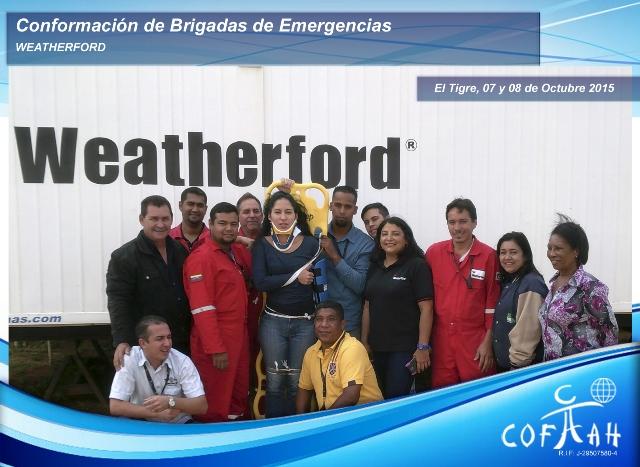 Conformación de Brigadas de Emergencias (WEATHERFORD) El Tigre