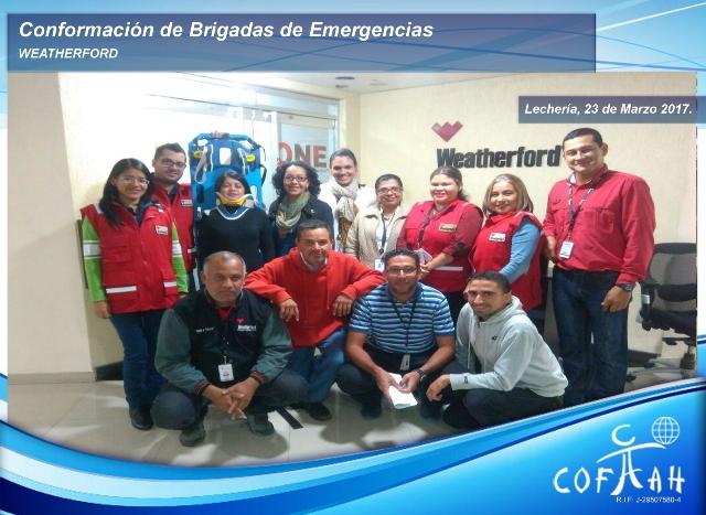 Conformación de Brigadas de Emergencias (WEATHERFORD) Lechería