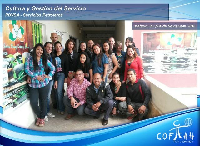 Cultura y Gestión del Servicio (PDVSA Servicios Petroleros) Maturín