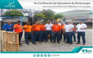 Re-Certificación de Operadores de Montacargas (PEPSI-COLA) Caucagua