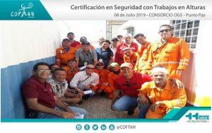 Certificación en Seguridad con Trabajos en Alturas (CONSORCIO OGS) Punto Fijo