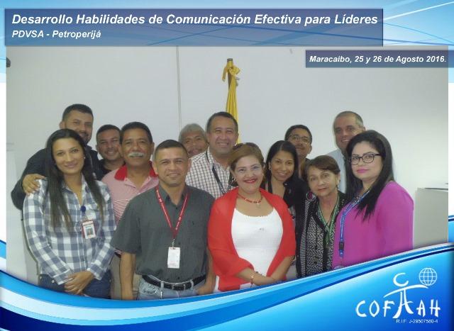 Desarrollo de Habilidades de Comunicación Efectiva para Líderes (PDVSA Petroperija) Maracaibo
