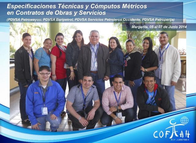 Especificaciones Técnicas y Cómputos Métricos en Contratos de Obras y Servicios (PDVSA Varios) Isla de Margarita