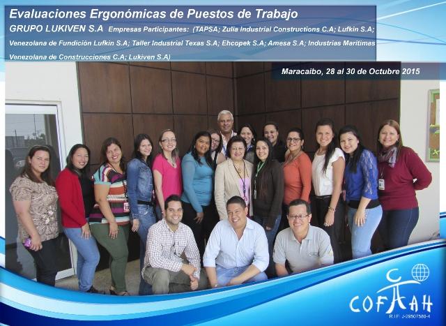 Evaluaciones Ergonómicas de Puestos de Trabajo (LUKIVEN) Maracaibo