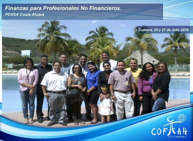 Finanzas para Profesionales No Financieros (PDVSA Costa Afuera) Cumana