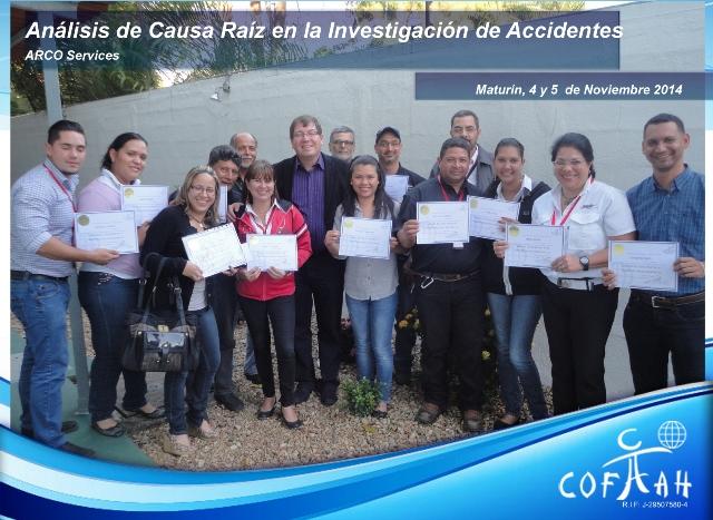 Análisis de Causa Raíz en la Investigación de Accidentes (ARCO SERVICES) Maturín