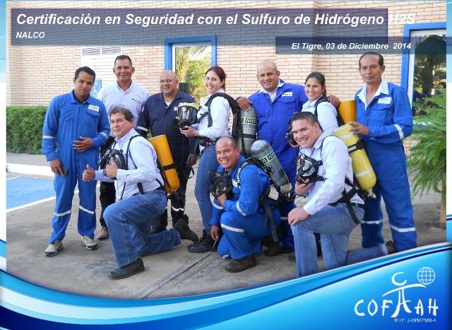 Certificación en Seguridad con el Sulfuro de Hidrógeno (NALCO) El Tigre - 1era sesión