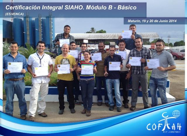 Certificación Integral SIAHO Módulo B - Básico (ESVENCA) Maturín