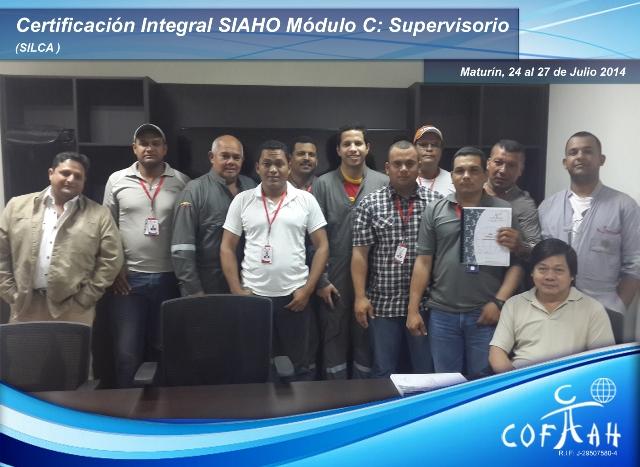 Certificación Integral SIAHO Módulo C Supervisorio (SILCA) Maturín