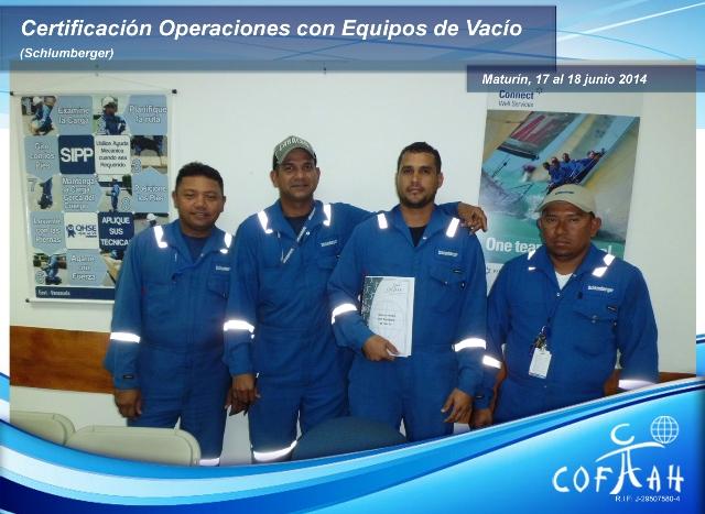 Certificación Operadores de Equipos de Vacio (SCHLUMBERGER) Maturín