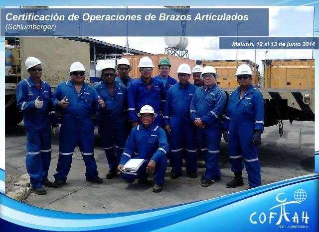Certificación Operadores de Brazos Articulados (SCHLUMBERGER) Anaco