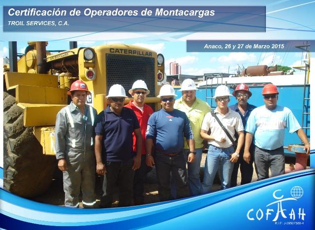 Certificación para Operadores de Montacargas (TROIL Services) Anaco