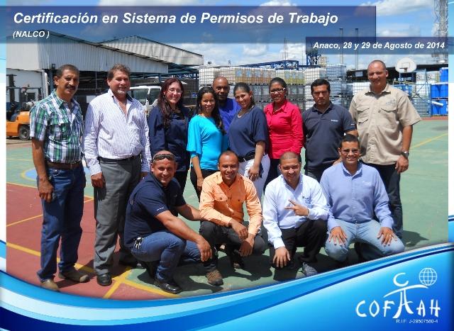 Certificación en Sistema de Pemisos de Trabajo (NALCO) Anaco