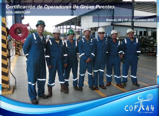 Certificación de Operadores de Grúas Puentes (SCHLUMBERGER) Maturín