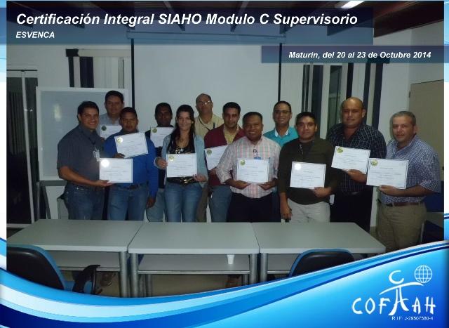 Certificación Integral SIAHO Módulo C - Supervisorio (ESVENCA) Maturín