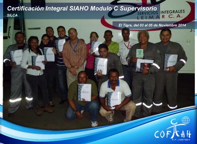 Certificación Integral SIAHO Módulo C - Supervisorio (SILCA) El Tigre
