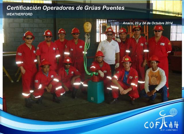 Certificación Operadores de Grúas Puentes (WEATHERFORD) Anaco