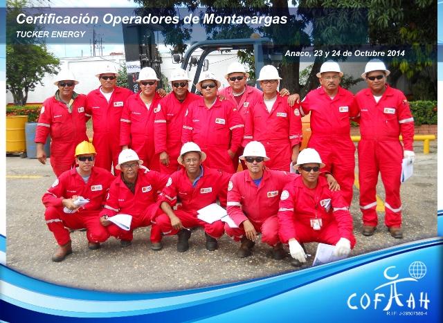 Certificación Operadores de Montacargas (TUCKER ENERGY) Anaco