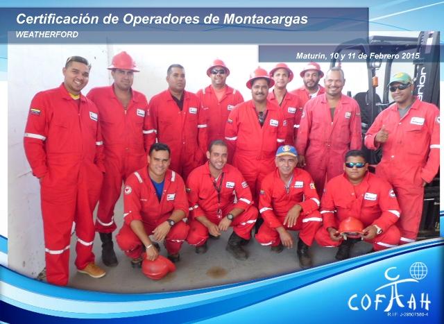 Certificación de Operadores de Montacargas (WEATHERFORD) Maturín