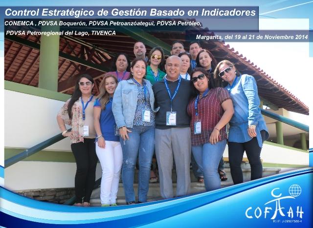 Control Estratégico de Gestión basado en Indicadores (PDVSA Petróleo - Boquerón - Petroregional - Petroanzoategui - CONEMCA - TIVENCA)