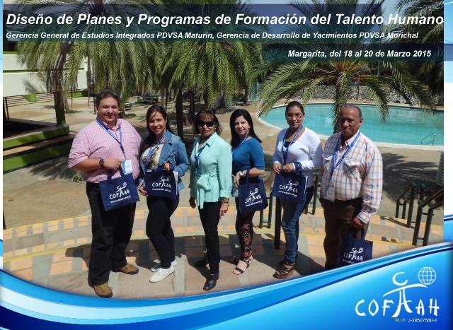 Diseño de Planes y Programas de Formación del Talento Humano (PDVSA) Isla de Margarita