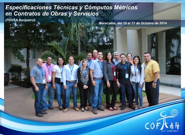 Especificaciones Técnicas y Cómputos Métricos en Contratos de Obras y Servicios (PDVSA Baripetrol) Maracaibo