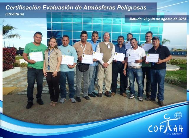 Certificación en Evaluación de Atmósferas Peligrosas (ESVENCA) Maturín
