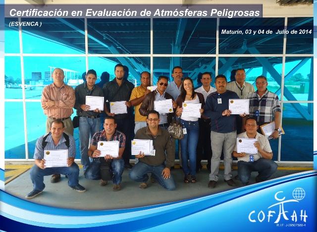 Certificación en Evaluación de Atmósferas Pelgrosas (ESVENCA) Maturín