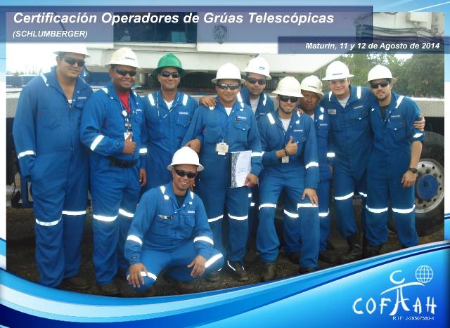 Certificación Operadores de Grúas Telescópicas (SCHLUMBERGER) Matrurín