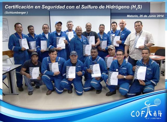Certificación en Seguridad con el Sulfuro de Hidrógeno - H2S (SCHLUMBERGER) Maturín