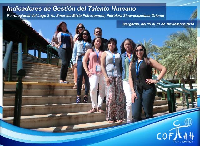 Indicadores de Gestión del Talento Humano (PDVSA Petroregional - Empresa Mixta Petrozamora - Petrolera Sinovenezolana Oriente) Isla de Margarita