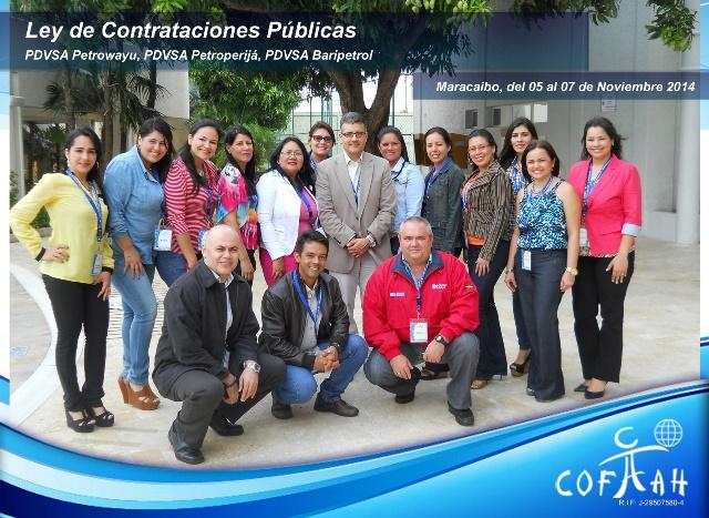 Ley de Contrataciones Públicas (PDVSA Petrowayuu - Petroperija - Baripetrol) Maracaibo