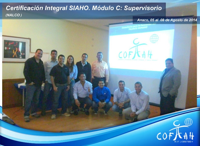 Certificación Integral SIAHO Módulo C Supervisorio (NALCO) Anaco