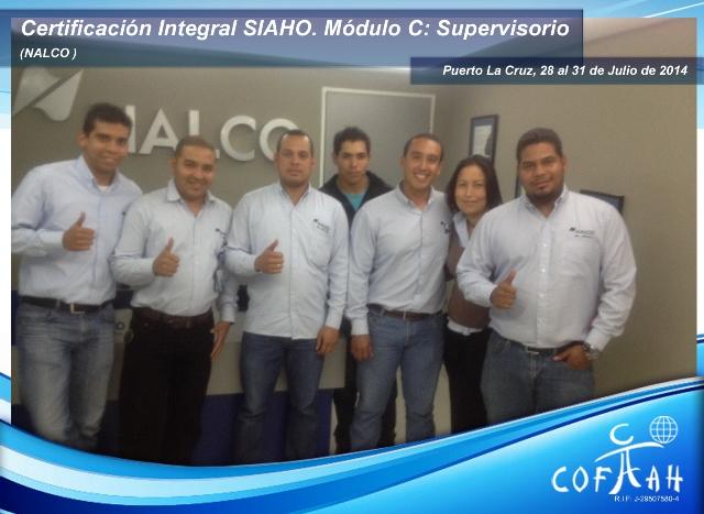 Certificación Integral SIAHO Módulo C Supervisorio (NALCO) Puerto La Cruz